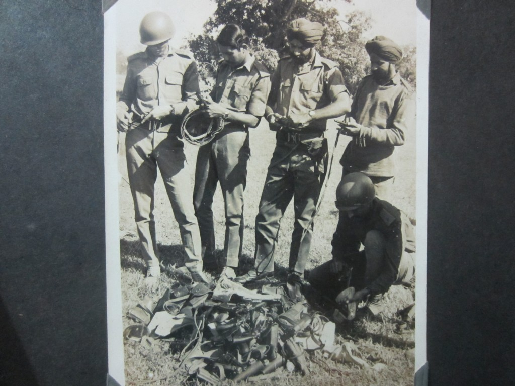 The Pakistani army surrendered their guns. My uncle is second from the left