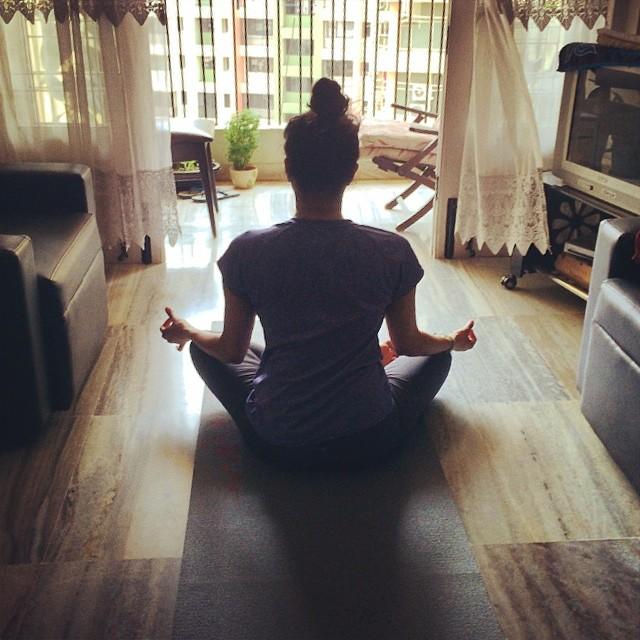 Practicing yoga and meditation in Mumbai