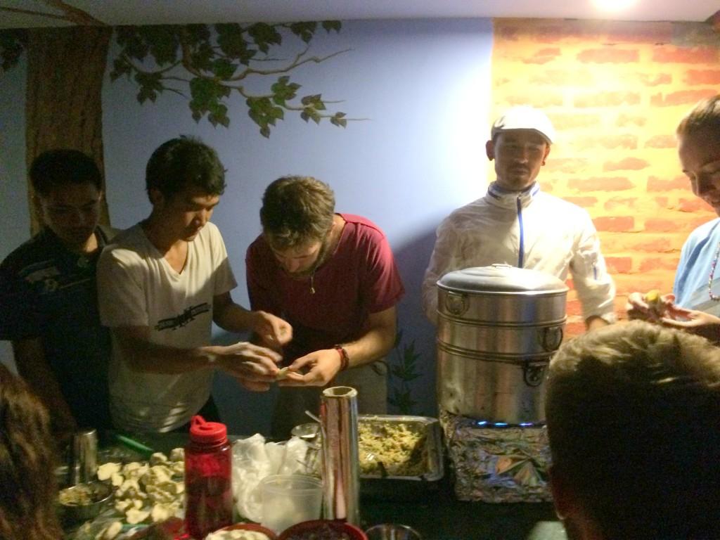 Momo cooking class at Alobar1000