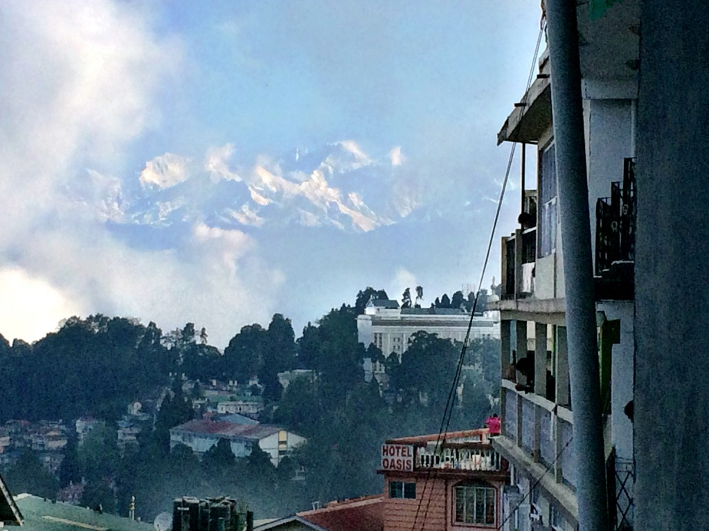 Had a clear view of Kanchenjunga just as we were leaving!