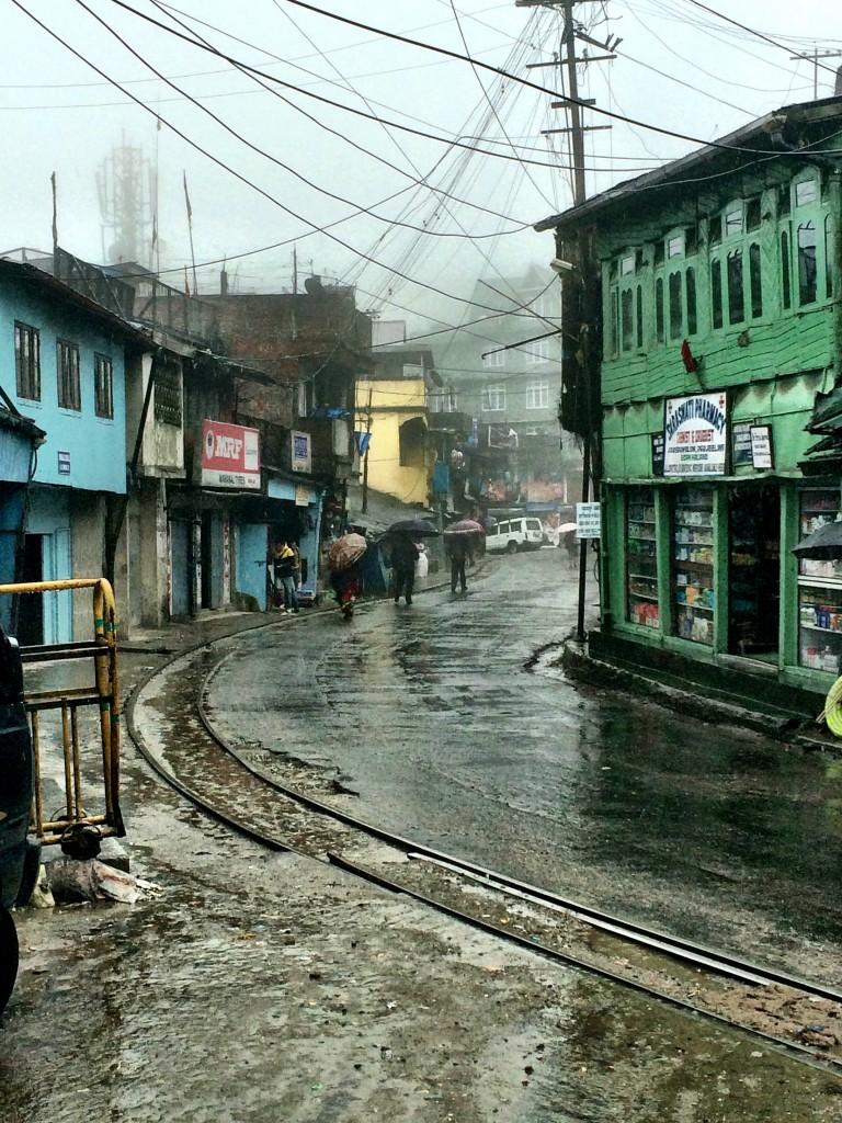 Empty streets on rainy days