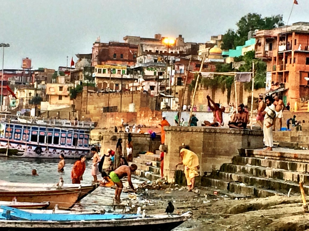 Varanasi ghats just after sunrise