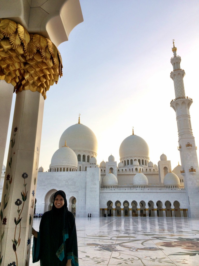That's me in an abaya at the Grand Mosque
