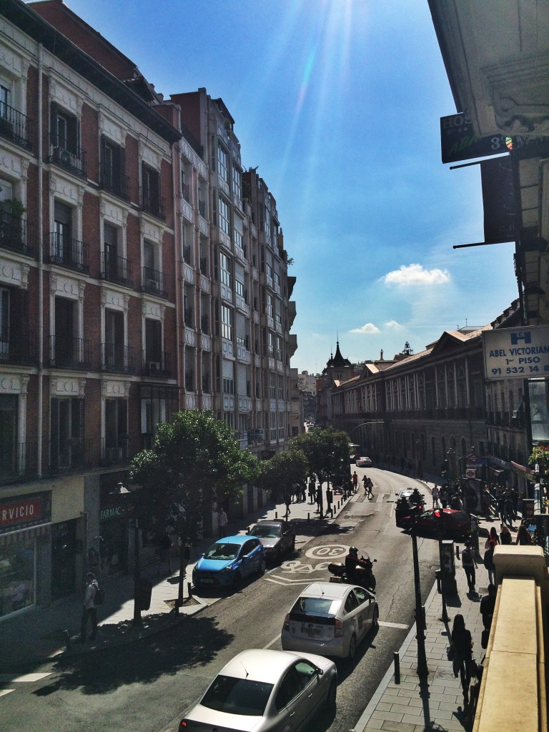 The view of my street in Malasaña