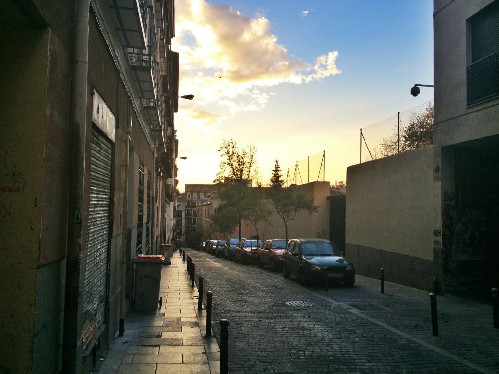 Shiny skies on an evening walk home