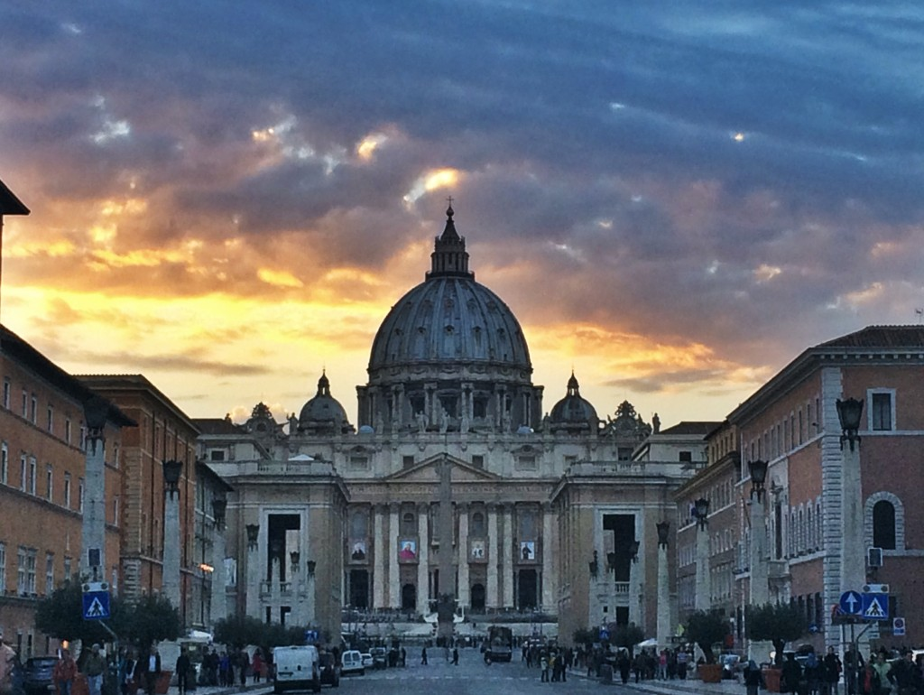 I almost didn't turn around when I left the Vatican. I'm so glad I did to capture this sunset!
