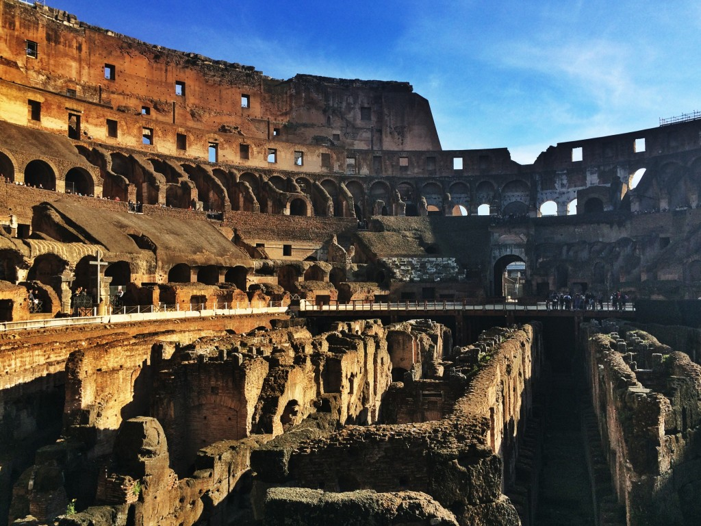 It was great to explore the Colosseum without being pushed around by other tourists