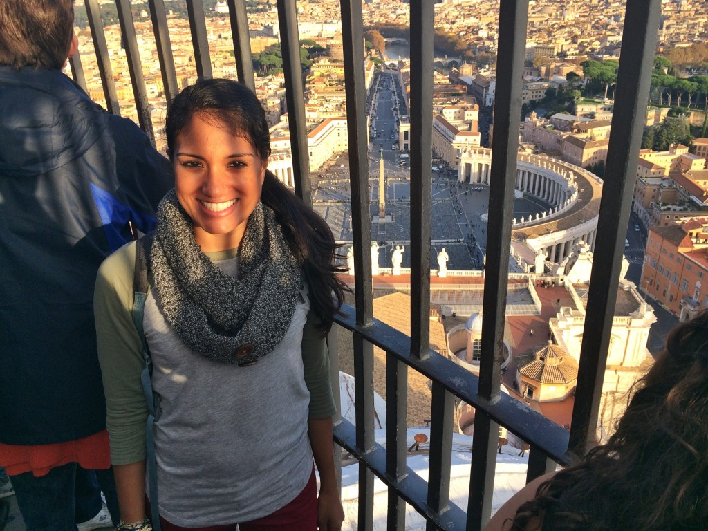 551 steps up to the dome of St. Peter's Basilica at the Vatican was worth it!