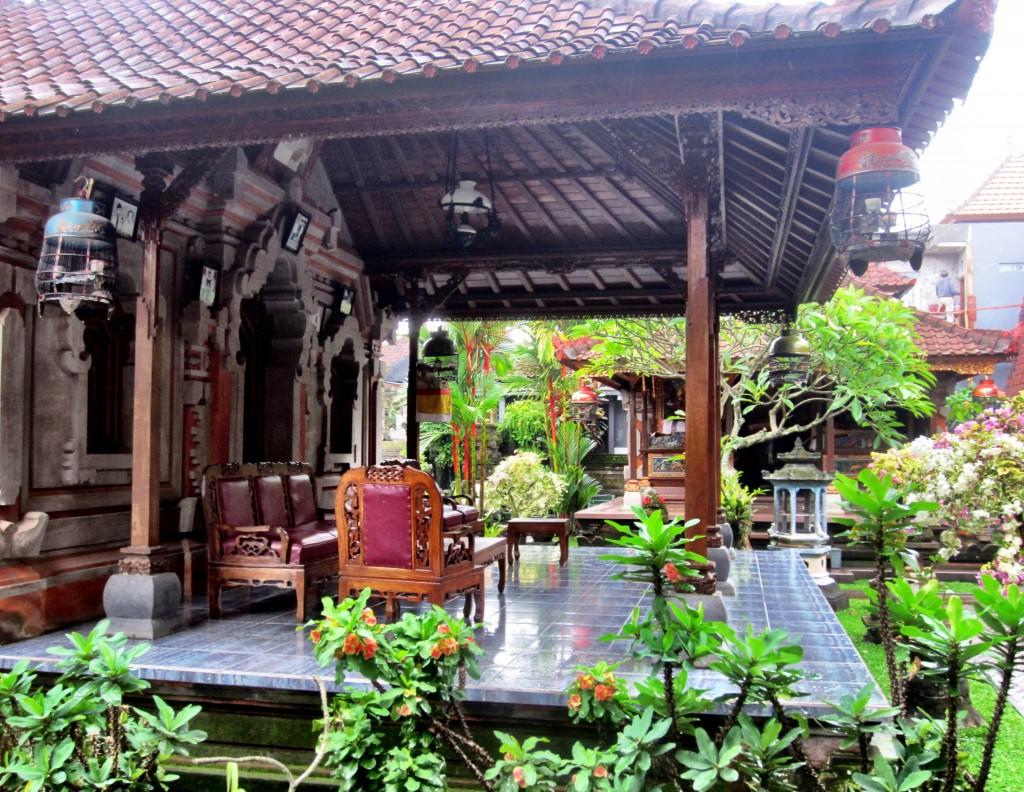 Homestay courtyard