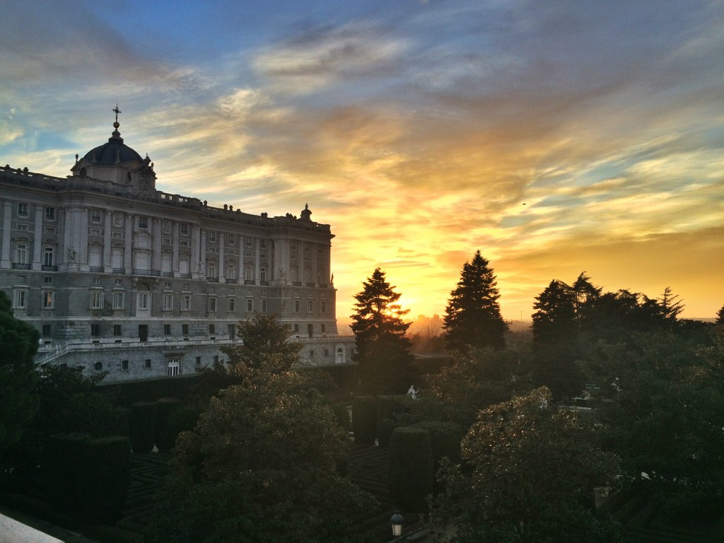 Palacio Real de Madrid Sunset
