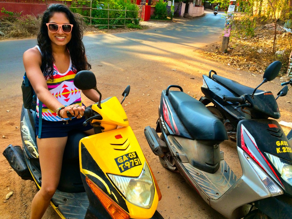 Scooter in Goa