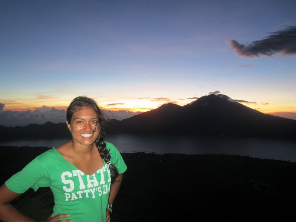 Lavi on Mount Batur for sunrise