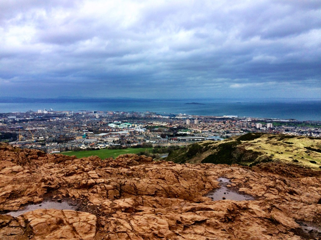 North Sea view from Arthur's Seat