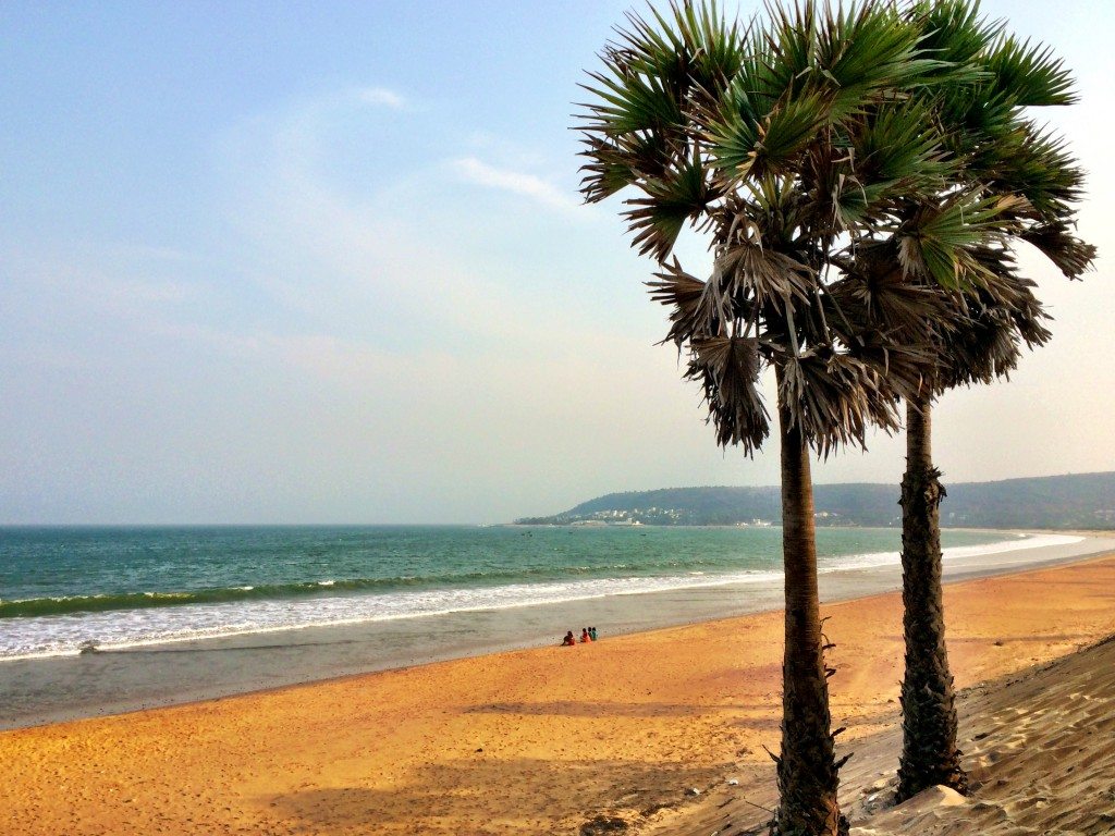 Beach along Bay of Bengal, Vizag