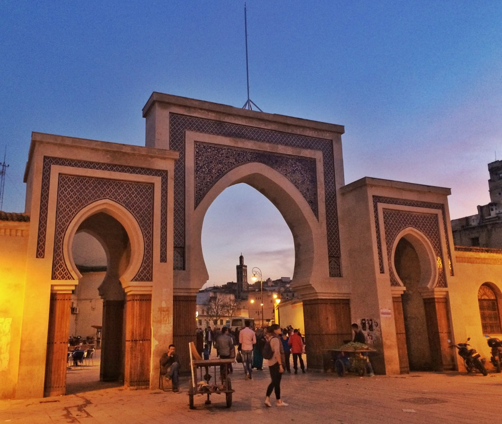 Fes Medina Gate at Sunset