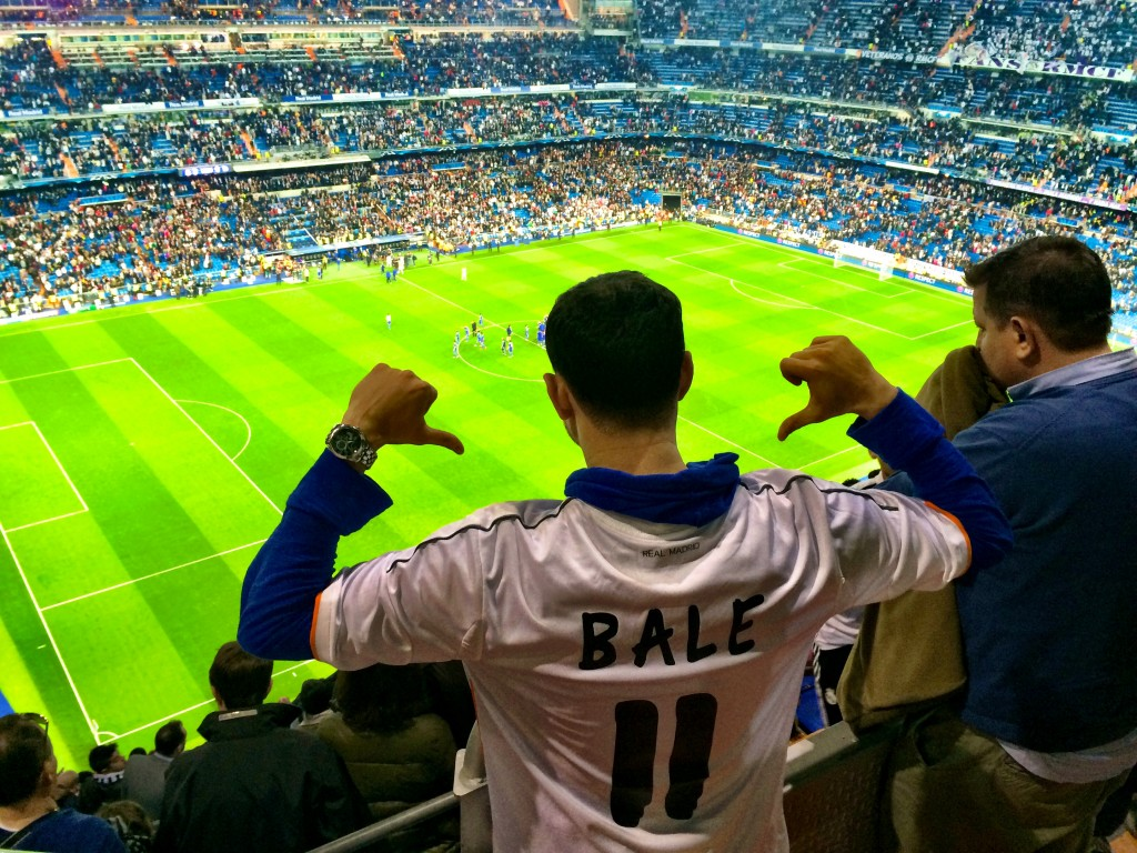 My Brother at Real Madrid Match