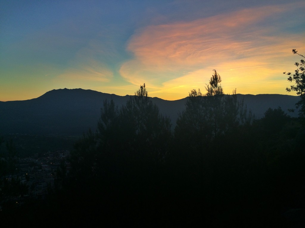 Chefchaouen hills at sunset