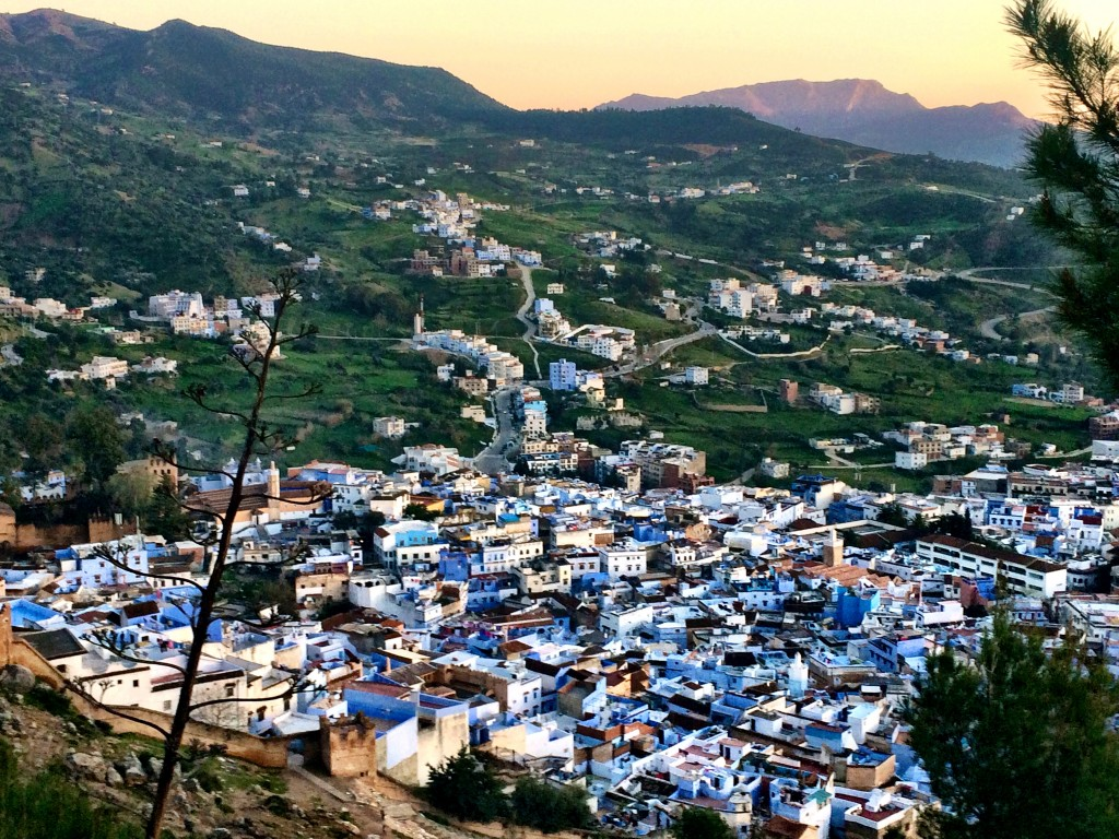 Chefchaouen at Sunset