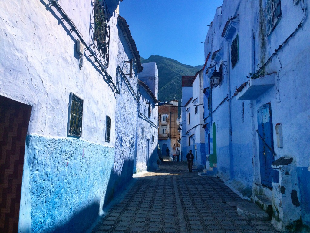 Empty street in Chefchaouen