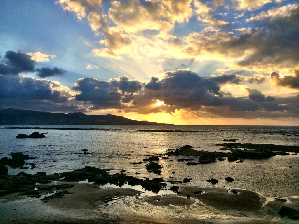 Playa de las Canteras Sunset