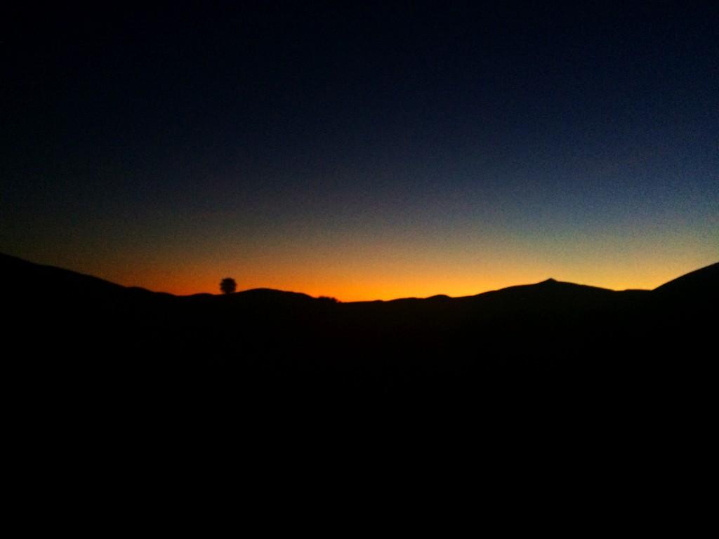 Sahara Sun in the Distance