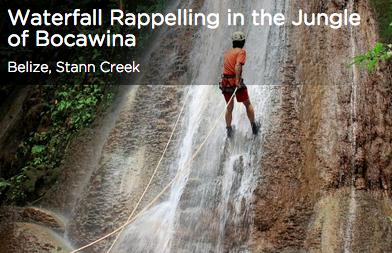 Waterfall Rappelling in Belize