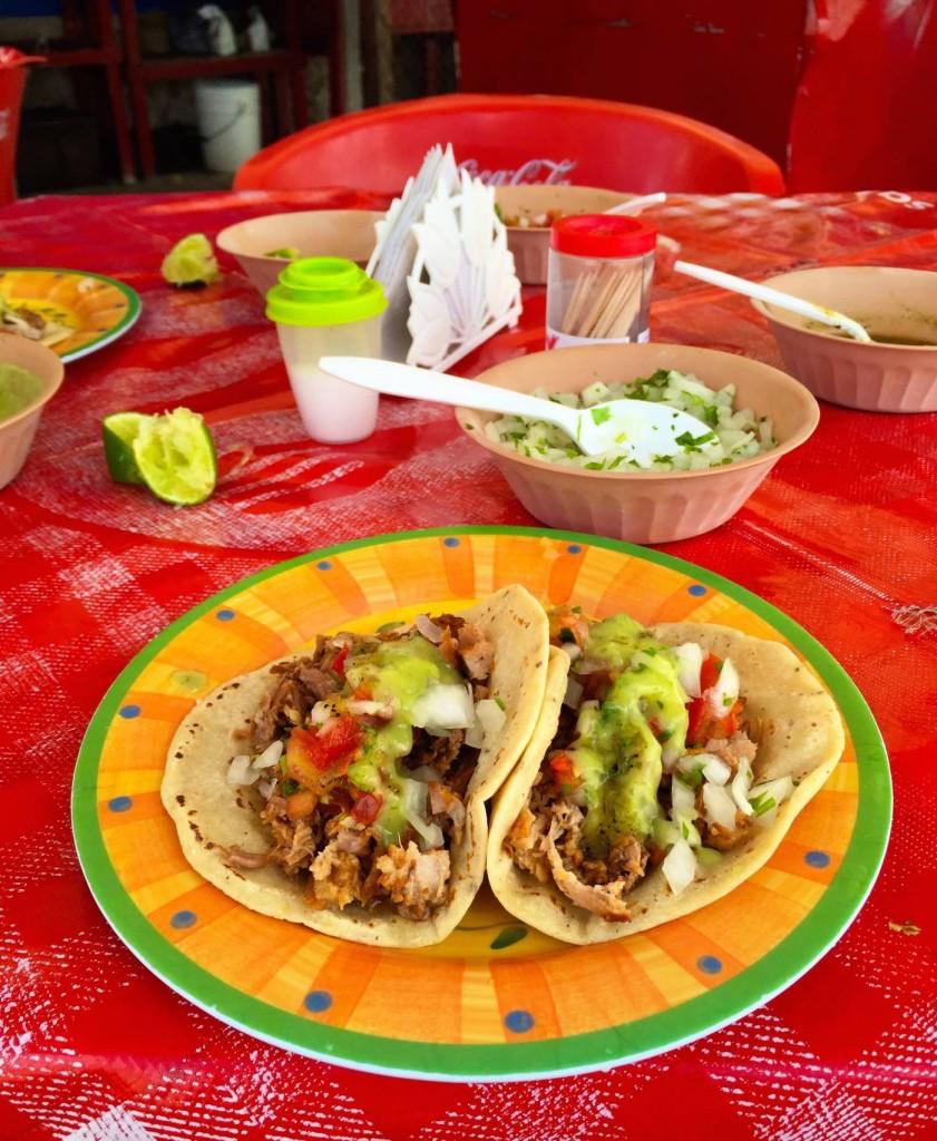 Tacos in Bacalar