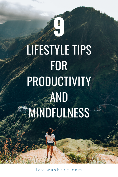 This year, I've made strides in improving my productivity and finding peace of mind and it feels great so far. Test out these lifestyle tips and find the right mix to help you accomplish your goals! | Lavi was here.